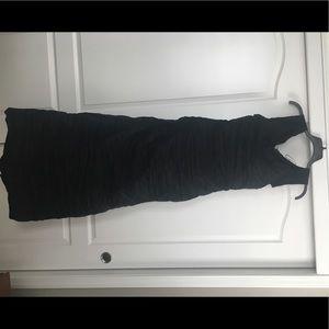 Black Off the Shoulder Gown